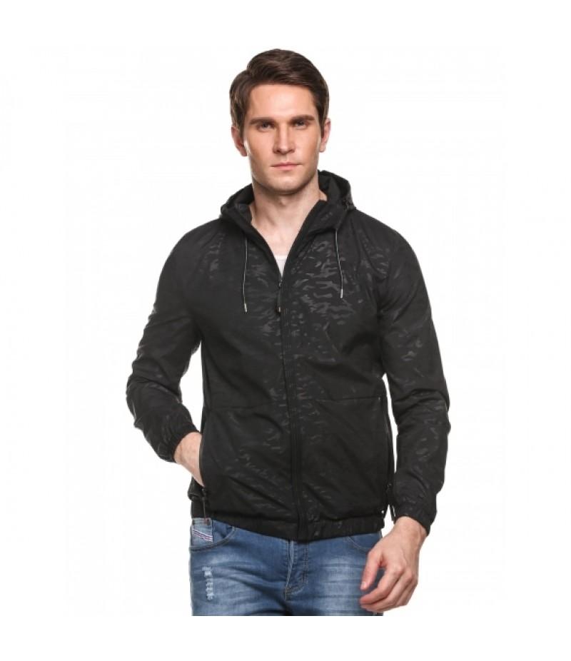 Lightweight Hooded Long Sleeve Zip-up Rainproof Jacket