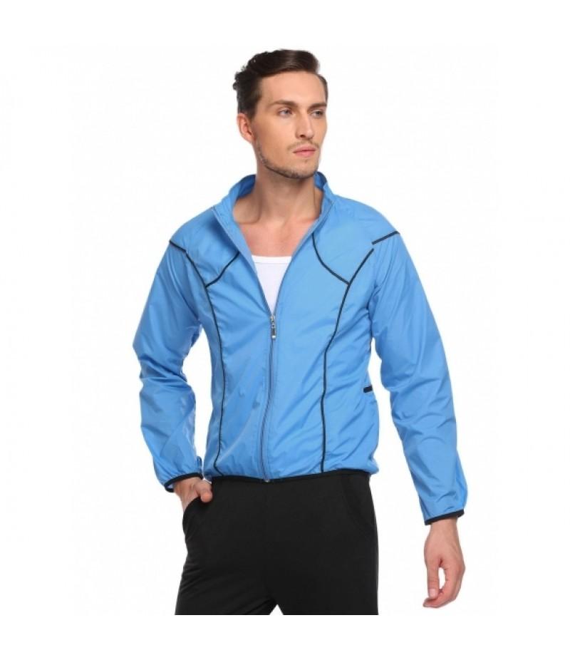 Men Long Sleeve Cycling Jacket Jersey Outdoor Sportswear