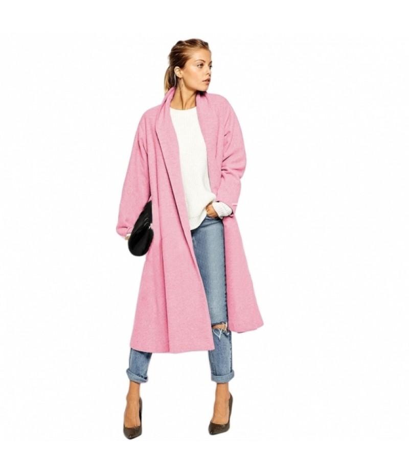 Cool Stylish Ladies Women Casual Below Knee Long Solid Cardigan Trench Coat Outerwear Windbreaker