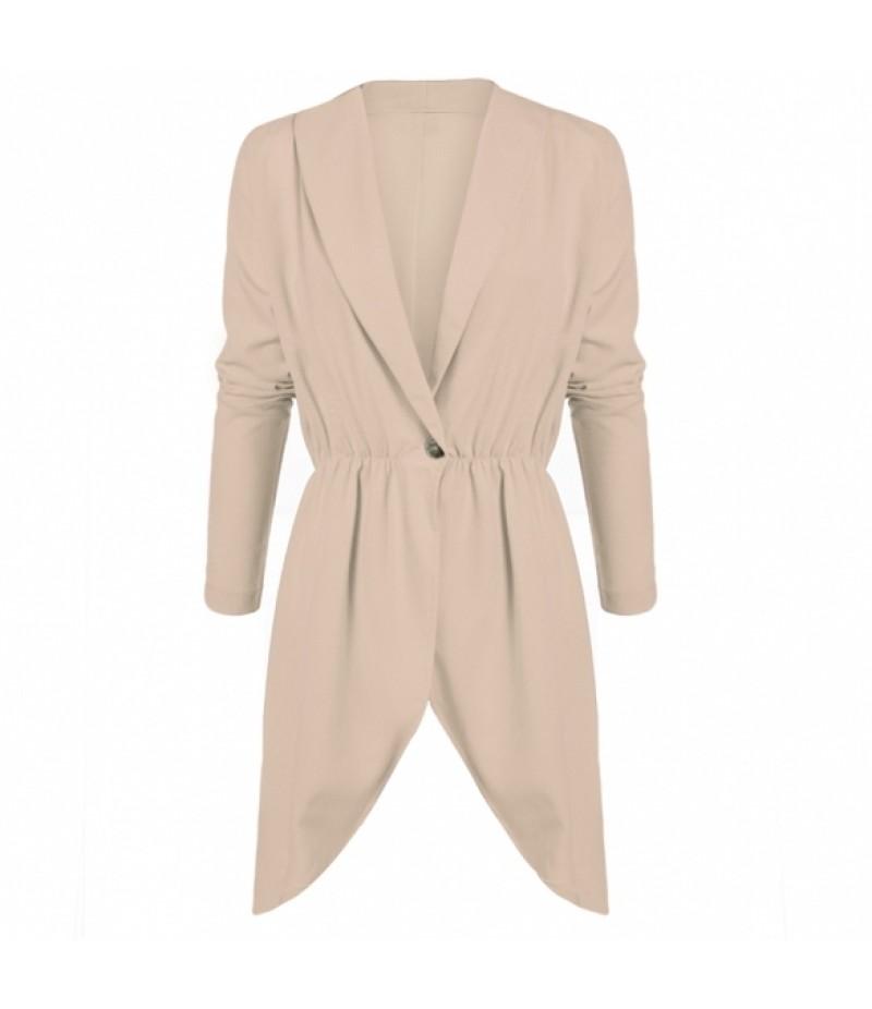 Zeagoo Stylish Women's Fitted Dip Hem Peplum Style Blazer